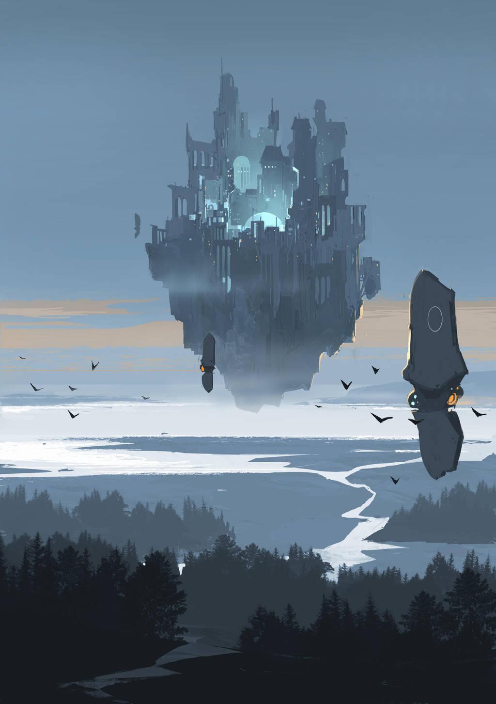 Flying City by sketchboook