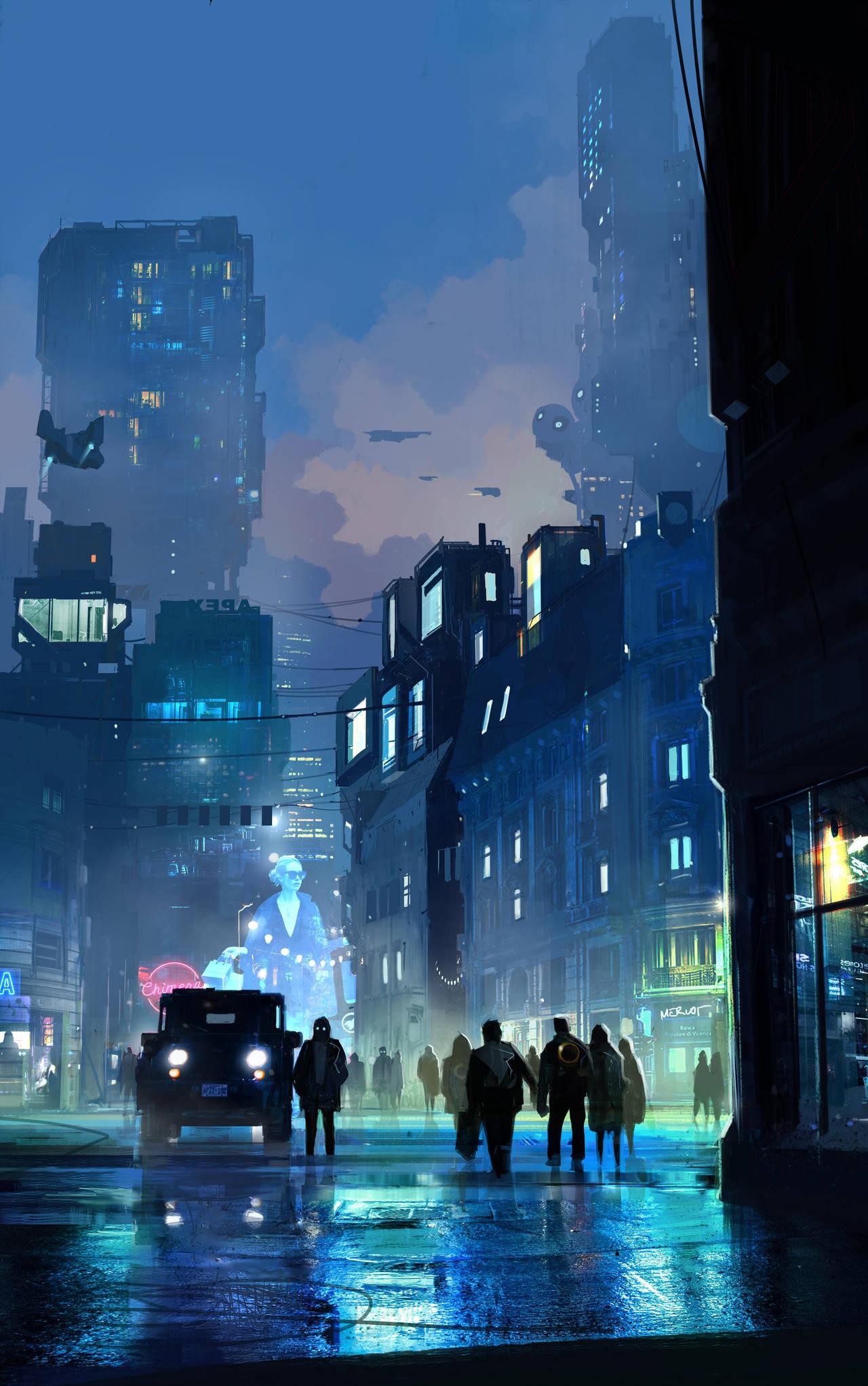 Neonstreet by sketchboook