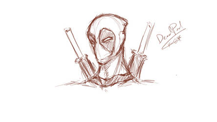 Deadpool Sketch by omnomkims