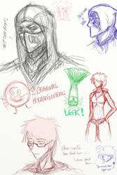 Sketch Dump Fun 1 by omnomkims