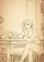Illustration for the novel by StyloideIllustration