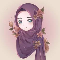 Hijab Girl by Daisy-Artz