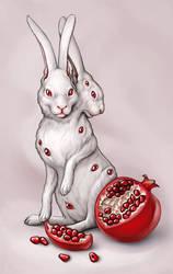 pomegranate rabbit by Amap0la