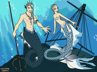 Lord Pontus and Lady Thalassa by PoisonDLucy13