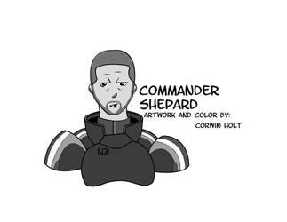 Comic Commander Shepard by Koleoh