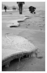 icycles on the beach by Wiedzma13