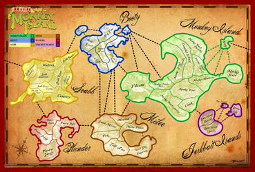 Monkey Island Risk Board by Cool-Hand-Mike