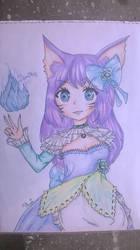 Frost Princess Ahri by BrighterAngel