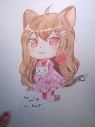 Anime Chibi Cat by BrighterAngel