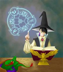 Wizard Self-Portrait by shadow-paladin