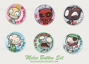 Melee Button Set by MonkeySeed