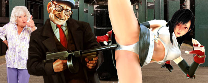 Tifa vs Old Gangster by neo-sunglasses