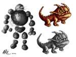 Creature Concepts 7 by Alicemonstrinho