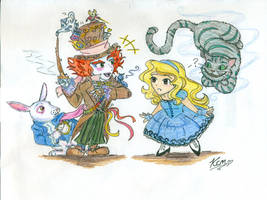 Chibi Alice in Wonderland by Kiyomi-chan16