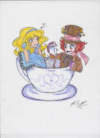 Alice and Mad Hatter by Kiyomi-chan16