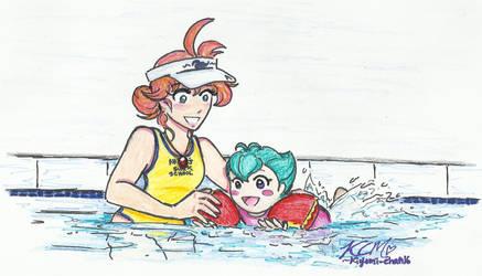 Ahiru's Swim School by Kiyomi-chan16