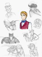 Sketches: Baron Humbert von Gikkingen by Kiyomi-chan16