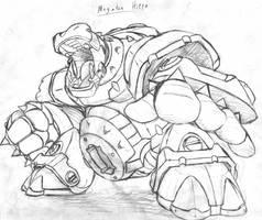 Megaton Hippo (Rough Sketch) by MarxForever