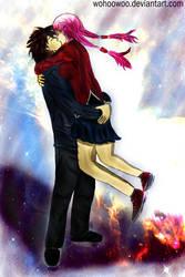 Kiss me: Shu x Inori - Guilty Crown by wohoowoo