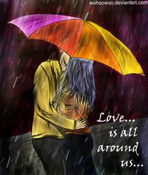 Angel Beats_Yuzuru x Kanade_Love is all around us. by wohoowoo