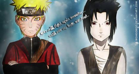 Naruto SM and Sasuke by wohoowoo
