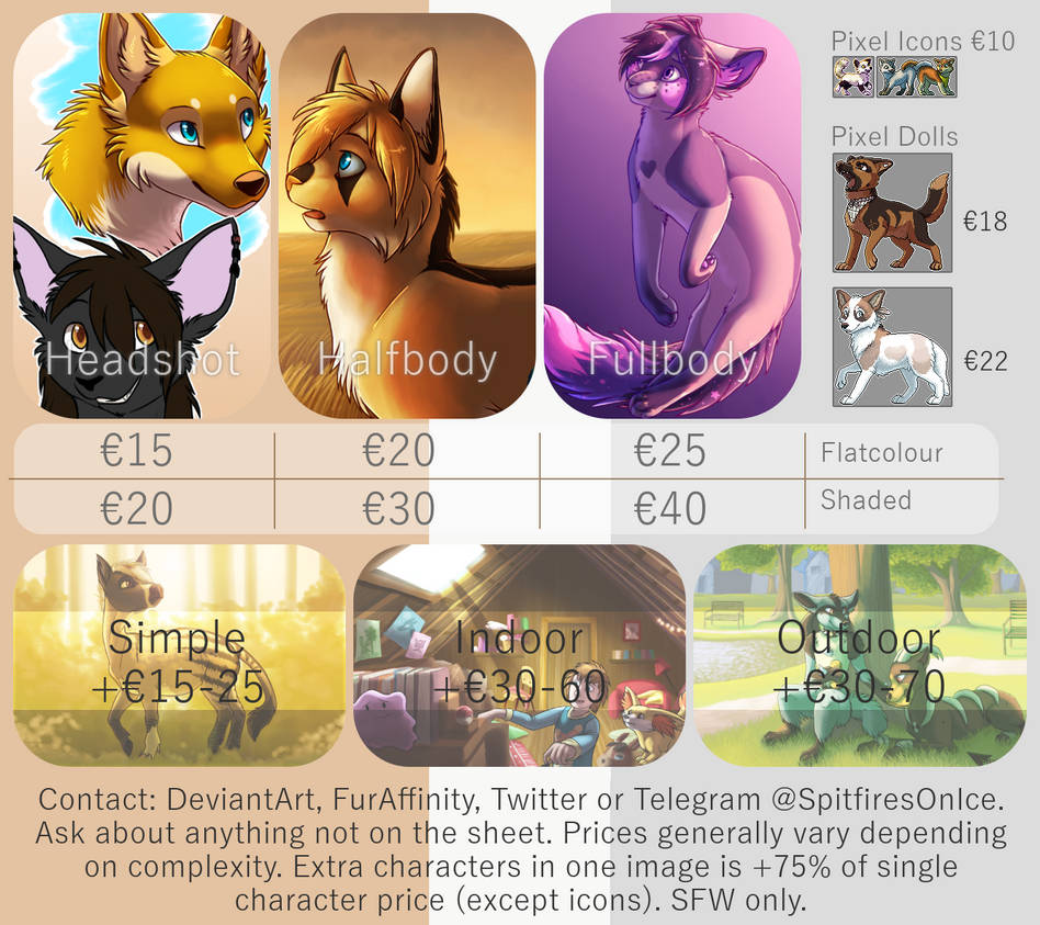 Commission Sheet 2018 by SpitfiresOnIce