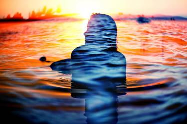 girl in water by Dileyla