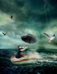 Stormy sea by Dileyla