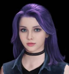 Stardew Valley Realistic Abigail (Purple Hair) by EarendelArt