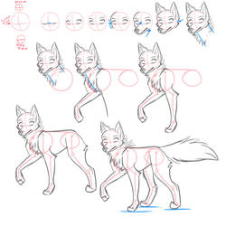 How to draw -  Canines by Kimai