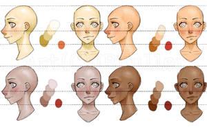 Skin Tone Practice by Bostonology