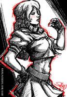 45 mins sketches - Karin by SabuDN