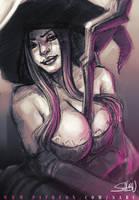 45 mins sketches - Sorceress by SabuDN