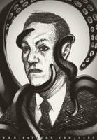 45 mins sketches - Lovecraft by SabuDN