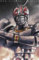 45 mins sketches - Kamen Rider Black by SabuDN