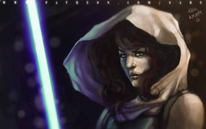 45 mins sketches - Mara Jade Skywalker by SabuDN
