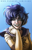 45 mins sketches - Sailor Mercury by SabuDN