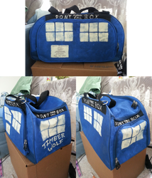 Doctor Whooves TARDIS Bag by ssumppg