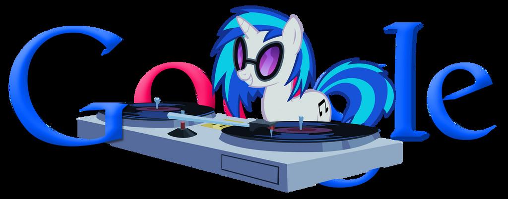 Vinyl Scratch / DJ Pon-3 Google Logo by ssumppg
