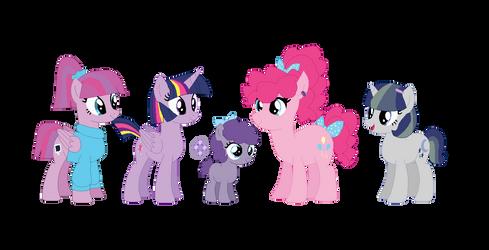 Twipie Family by NintendoPonyAddict