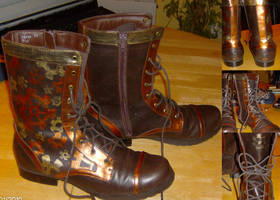 Steampunk booties by Ravingsohma