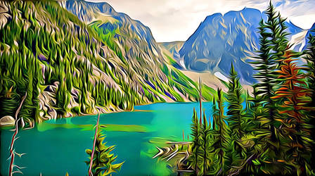 Colchuck Lake I - Digitalized by Lambieb123