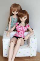 Taiga and Nyanko by chun52