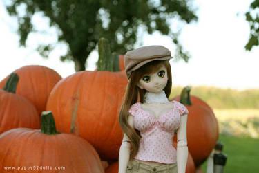 Nyanko and pumpkins :P by chun52