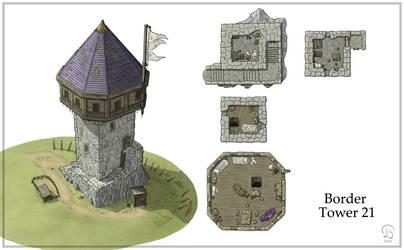 Border Tower 21 by Ashlerb