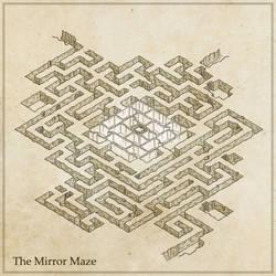 Mapvember Prompt - Day 3: Mirror Maze by Ashlerb