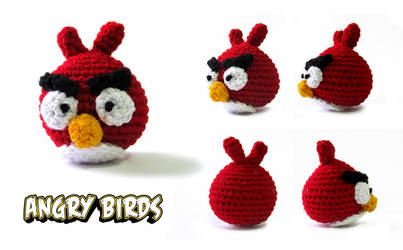 Red Angry Bird - Crochet by GothicMisty