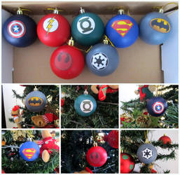 Geek Christmas Balls by GothicMisty