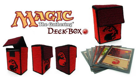 Magic The Gathering Deck Box - Red Mana by GothicMisty