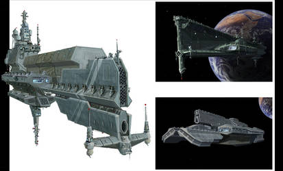 Space ship concepts by BenWootten
